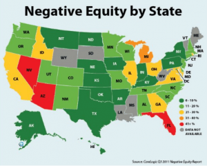 Negative Equity By State 2011